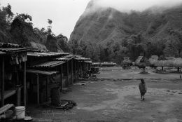 Traditional village in Bajawa on the island os Flores Indonesia