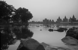 River Betwa at sunset Orcha India