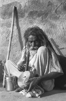 The blind musician India