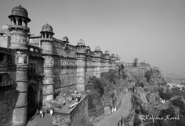 The fortified palace of Gwalior India