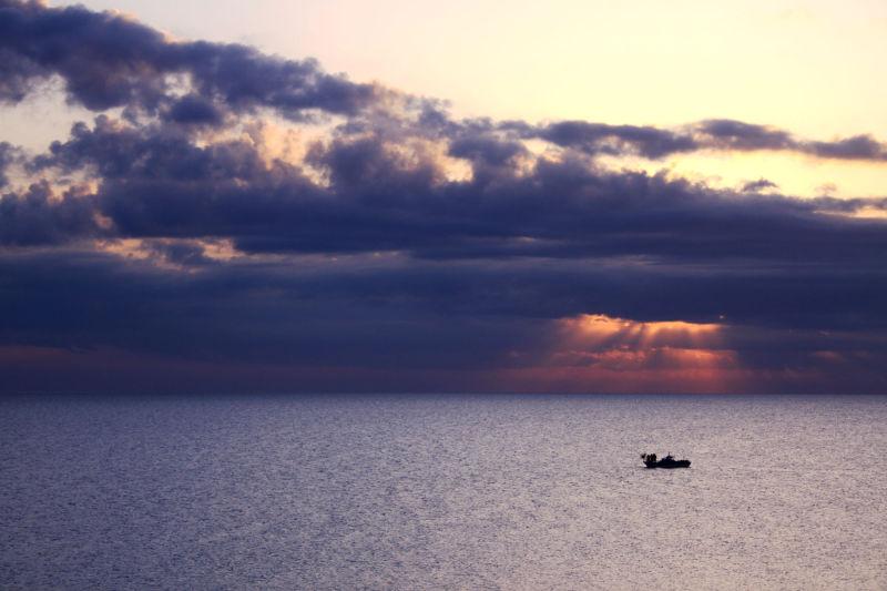 Dawn fishermen in Cyprus