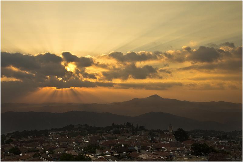 Sunrise over Lefkara