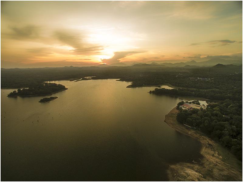 Sunset over Chandrika Lake.