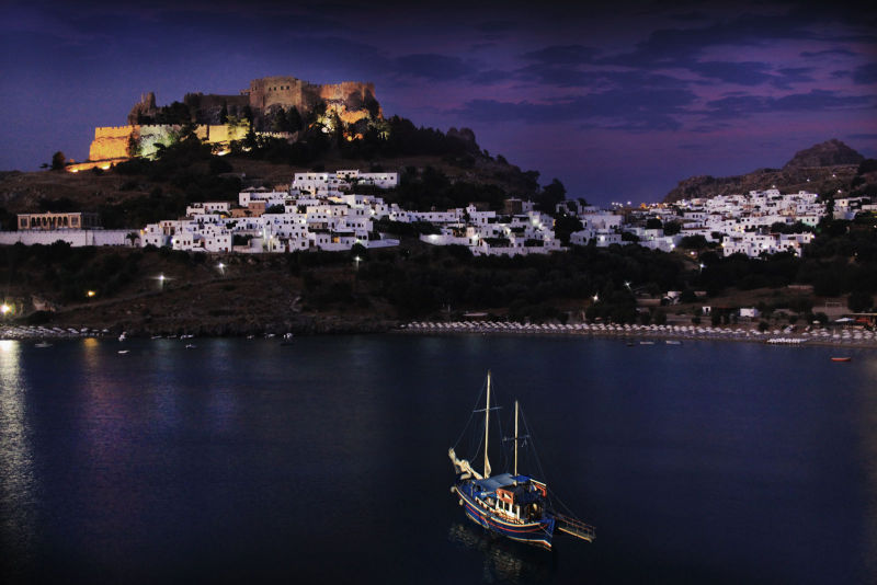 Dawn over Lindos