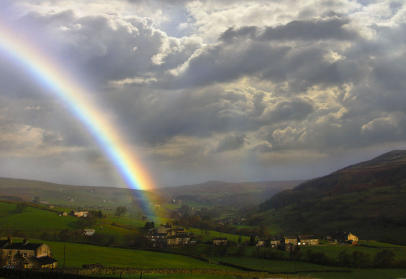 Which lucky person lives at the end of the rainbow ?