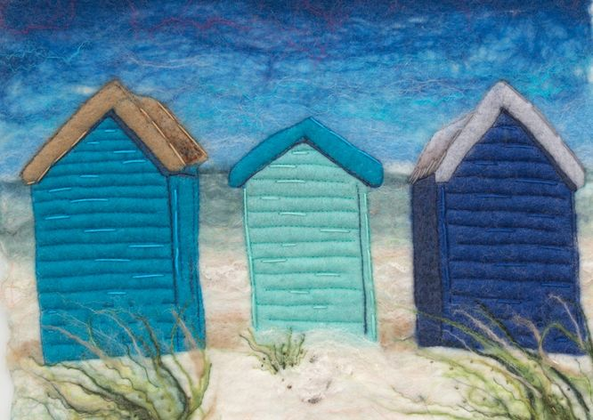 Beach Huts in Blue - sold