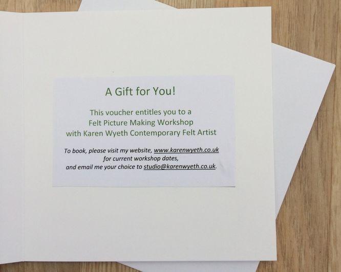 Gift Voucher for Felt Picture Making Workshop