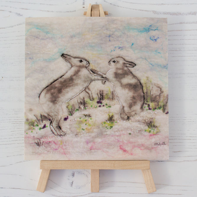 Mountain Hares in the Snow