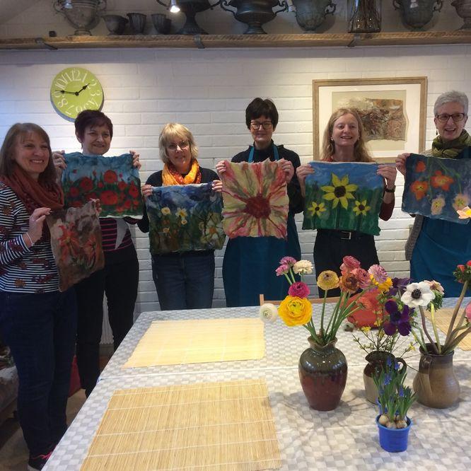 'Felting & Flowers' workshop