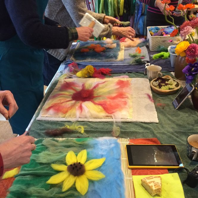 'Felting & Flowers' workshop