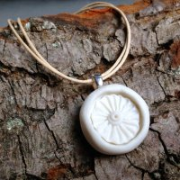 Porcelain necklace by Kathryn Parsons