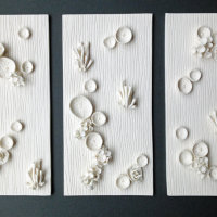 """""""Found in the Fields Triptych"""" Kathryn Parsons, hand modelled porcelain"""