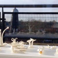 Found in the Fields 3 (detail), Kathryn Parsons, arrangement of handmade porcelain (60x40cm)