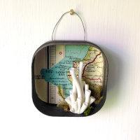 """""""Land's End"""" hand modelled porcelain, vintage & natural 'finds' in vintage tin"""