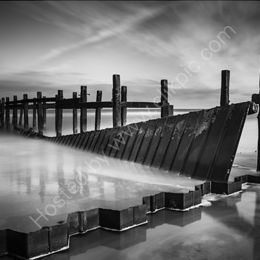 Battered Groyne - Black and White