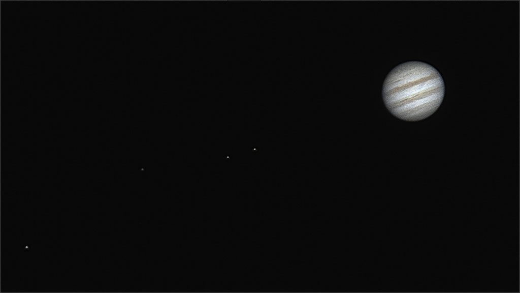 Jupiter all four moons