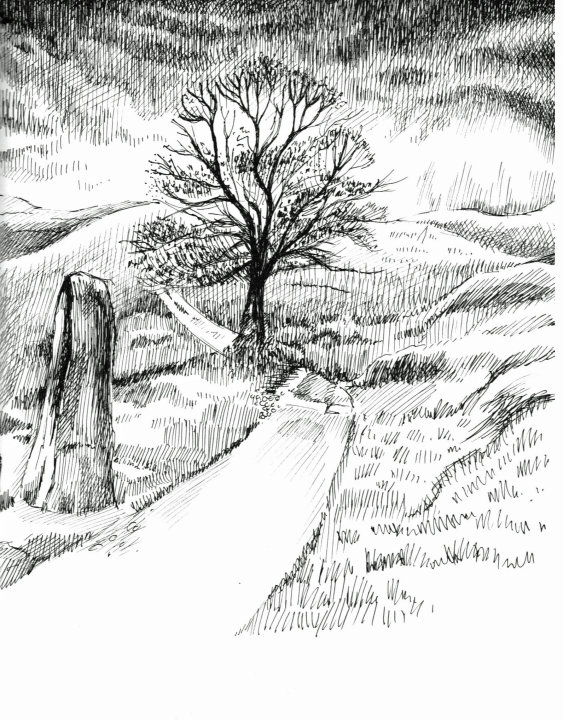 Preparitory drawings for Wuthering Heights