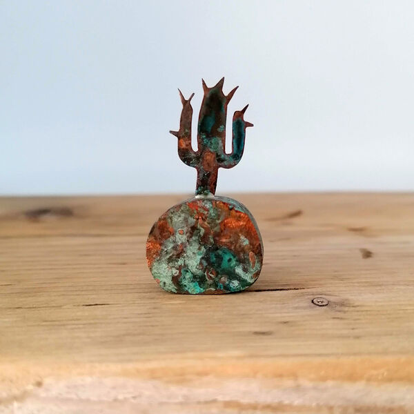 Kerry Day - Green Copper Cactus Sculpture
