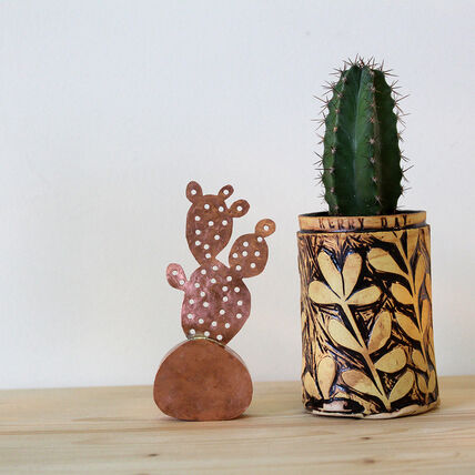 Kerry Day - Prickly Pear - Copper Sculpture