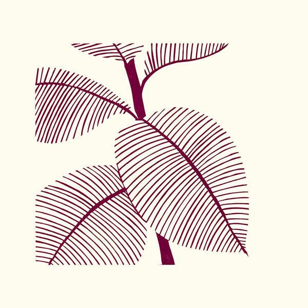 Kerry Day - Magenta II - Lino Print