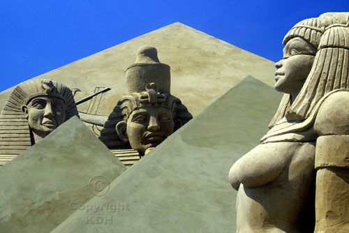 Egyptian Sand Sculptures at Brighton