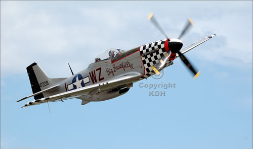 North American P51 Mustang 'Great Big Beautiful Doll' in flight.