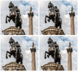 King Charles Statue and Nelsons Column