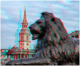Landseer Lion At Trafalgar Square