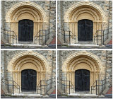 Norman West door of St. Nicholas Church New Romney in 3d