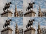 Trafalgar Square George 4th Statue