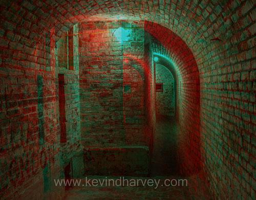 Tunnel inside the earthworks