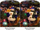 Snowman Stereocard