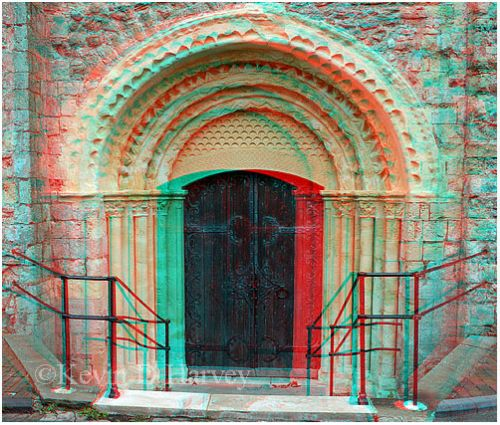 The fine Norman west door of St Nicholas Church, New Romney.