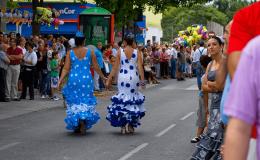 Ninas en desfile