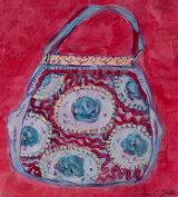 Red Velvet Handbag