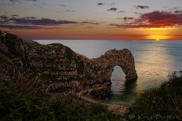 Durdle-Door-Sunset