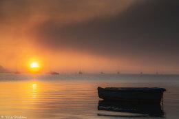 Sunset and Sea Fog