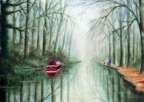 Misty Morn Basingstoke Canal