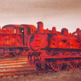 Old Timers (Rusting Steam Engines at Barry Sidings)