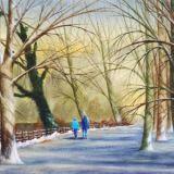 A winters walk, Roath Park