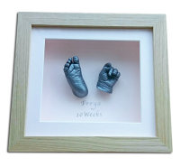 Ten week baby 3D framed  hand and foot cast