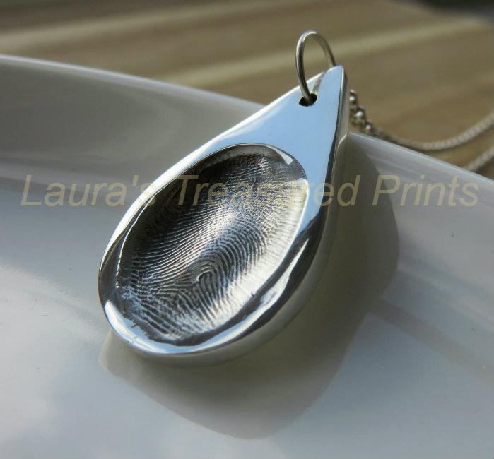 Teardrop Silver Pendant