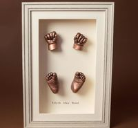 Full set of copper effect baby casts
