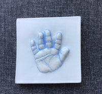 Child's  hand-print plaque