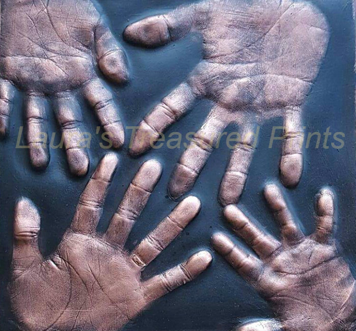 2D Family Hand Print Cast
