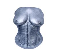 Female torso cast, cast whilst wearing a corset.