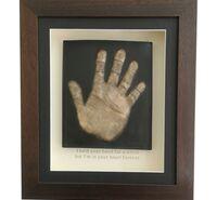 Framed memorial handprint