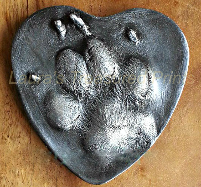 A German Shepherd paw 2D print