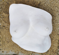 Breast cast straight out the mould.