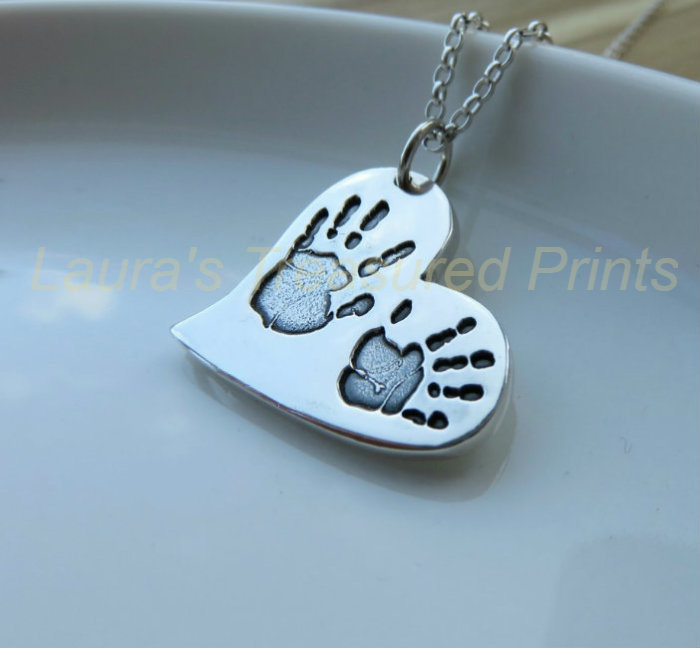 Curved Heart Silver Pendant